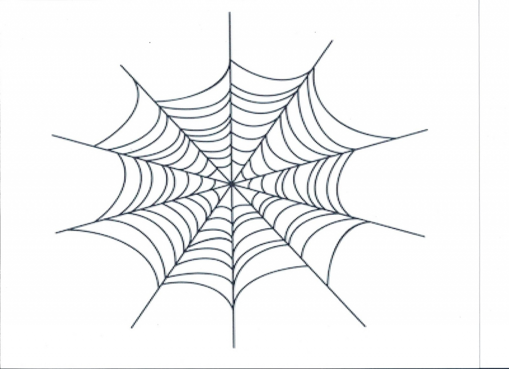 1024x744 Spider Web Drawing How To Draw A Simple Spider Web Youtube