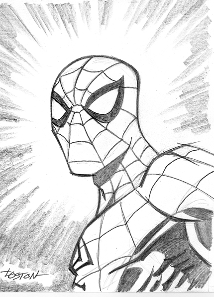 430x595 Spider Man Sketch By Lostonwallace