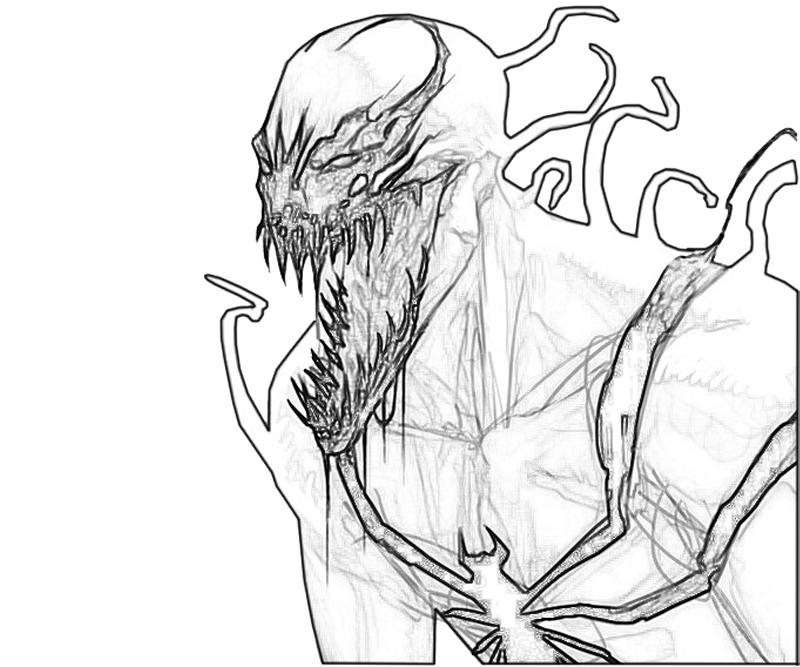 800x667 Spiderman Venom And Carnage Coloring Pages Anti Venom Coloring