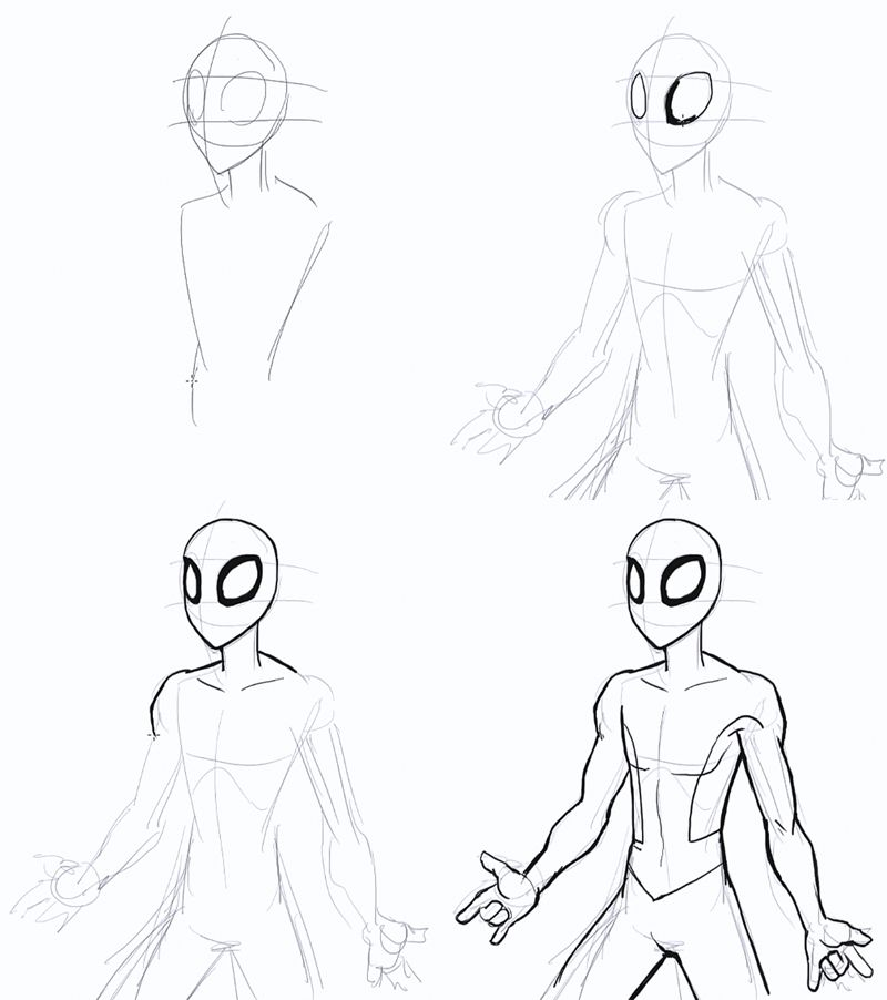 800x902 Drawing Spiderman Step By Step Desenhos Spiderman