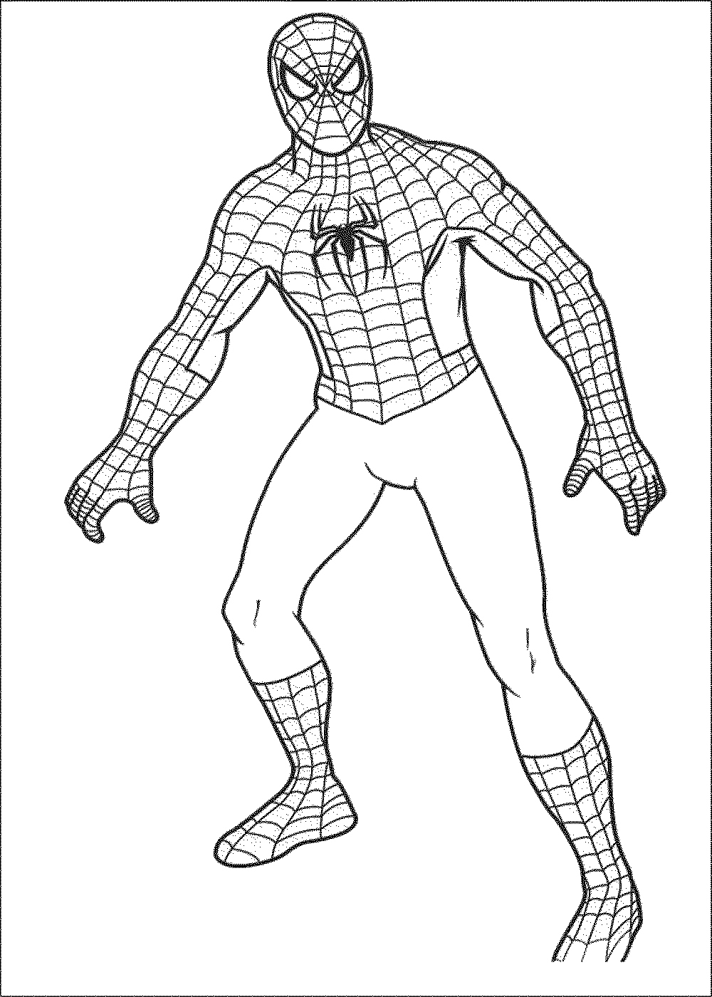 1000x1400 Simple Spiderman Coloring Pages Digital Stamps