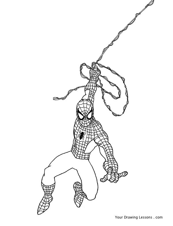 600x785 How To Draw Spider Man Your Drawing Lessons
