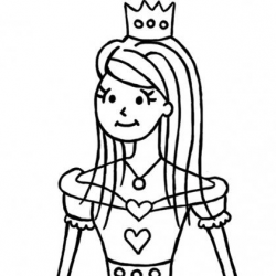 250x250 How To Draw A Princess Step By Step For Kids Feltmagnet