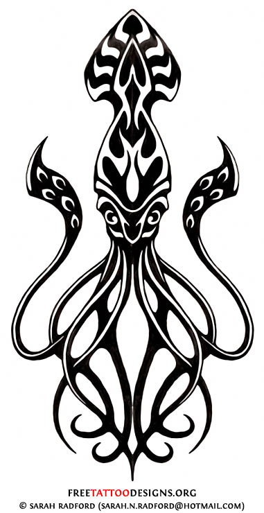 381x740 Best Squid Tattoo Designs