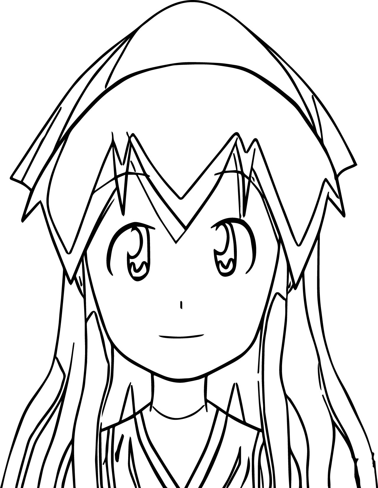 1280x1652 Squid Girl Coloring Page Wecoloringpage
