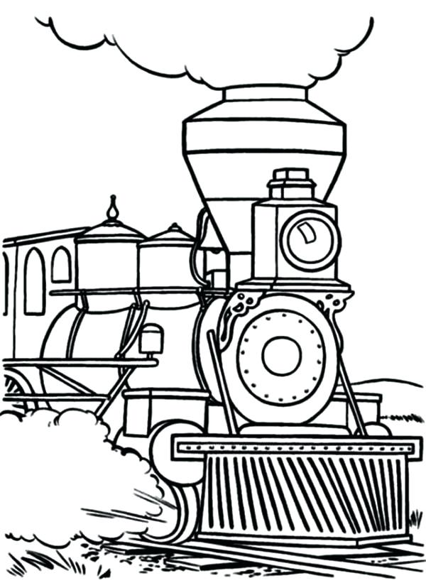 Simple Steam Train Drawing At Getdrawings Com