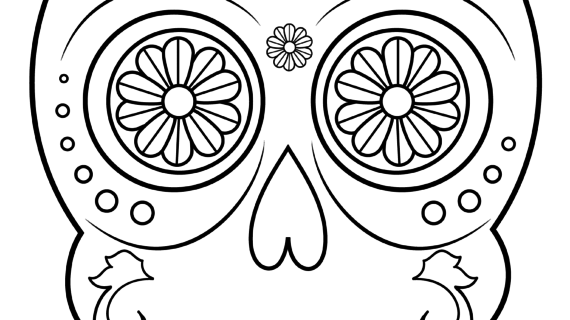 Simple Sugar Skull Drawing at GetDrawings.com   Free for personal ...