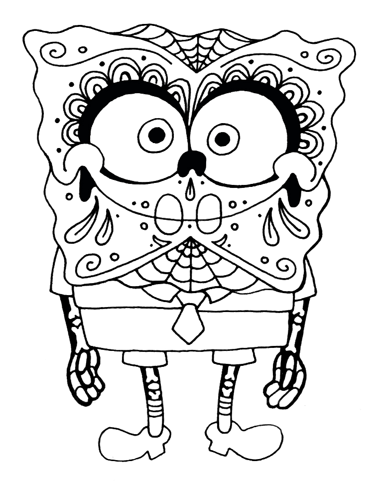 Simple sugar skull drawing at free for for Simple sugar skull coloring pages