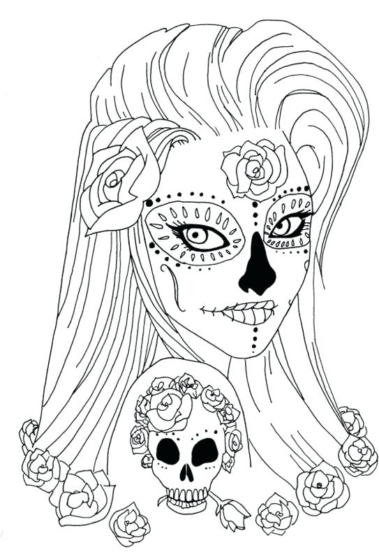 Simple Sugar Skull Drawing at GetDrawings