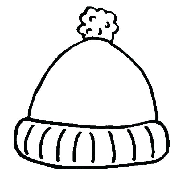 600x569 Hat Coloring Page Coloring Page Of A Hat Simple Winter Hat
