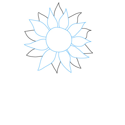 400x400 How To Draw A Sunflower Distractions Amp Hobbies