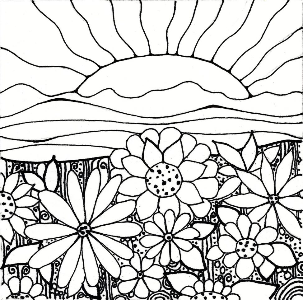 974x964 Adult Sunset Coloring Pages Printable Tags Sunset Coloring Pages
