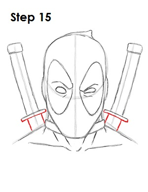 300x388 How To Draw Deadpool