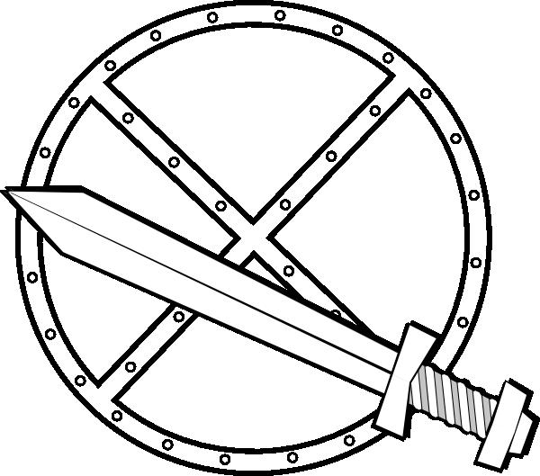 600x529 Jonadab Round Sword And Shield Clip Art Free Vector 4vector