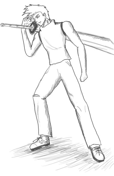 400x615 Man + Sword By Alvea Lzg
