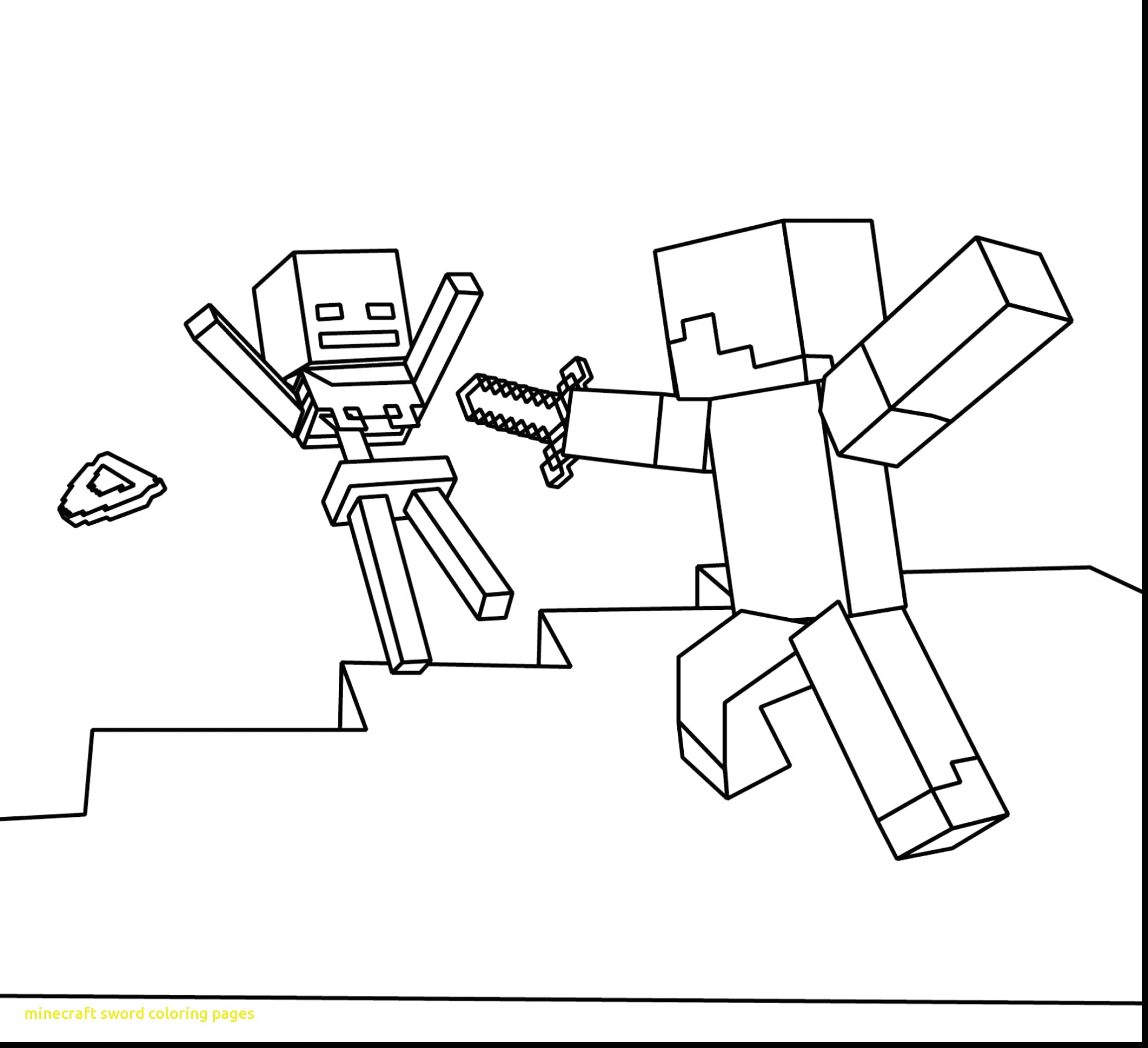 1897x1732 Minecraft Sword Coloring Pages With Marvelous Minecraft Coloring