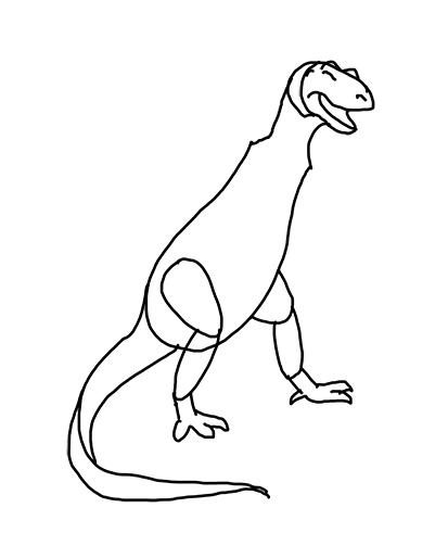 Simple T Rex Drawing At Getdrawings Com