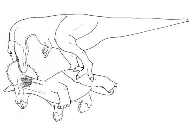 636x424 Drawn Tyrannosaurus Rex Easy