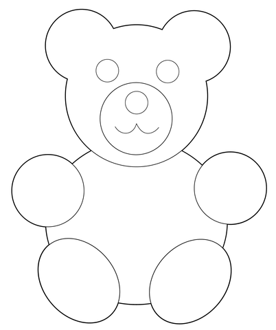 Simple Teddy Bear Drawing at GetDrawings.com | Free for personal use ...