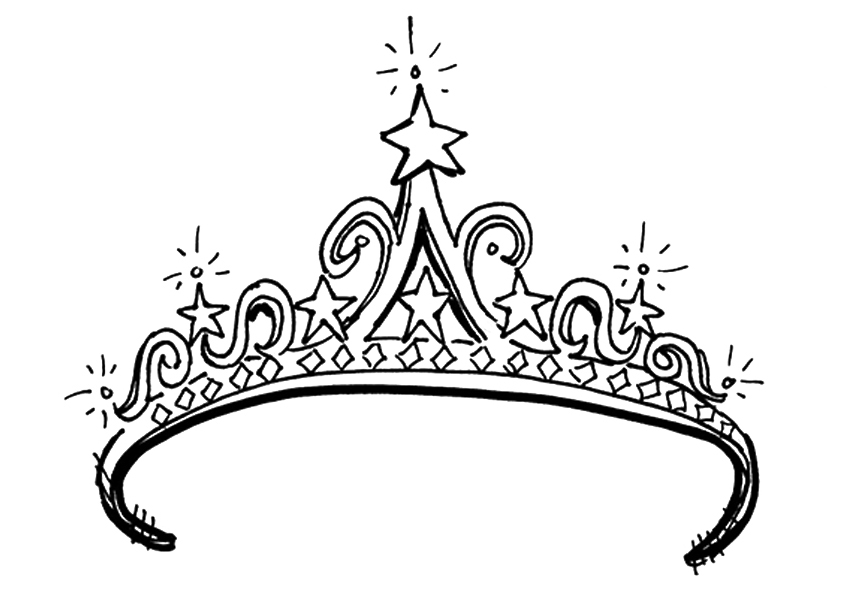 842x595 The Tiara Crown Coloring Pages 19