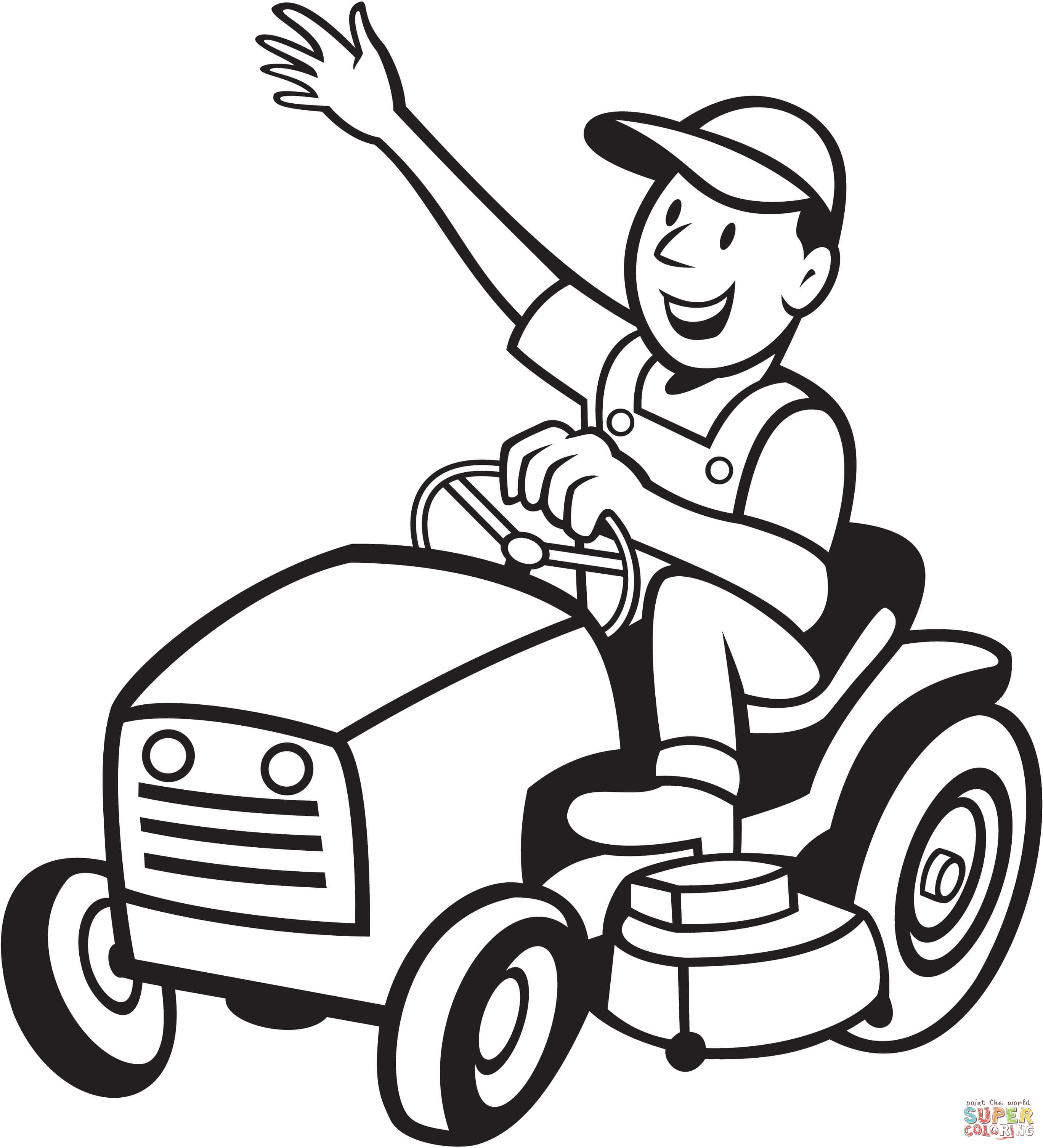 The Best Free Mower Drawing Images Download From 50 Drawings Tractors Furthermore Mtd Riding Drive Belt Diagram Likewise 2736x3012 Farmer A Tractor Coloring Page Printable