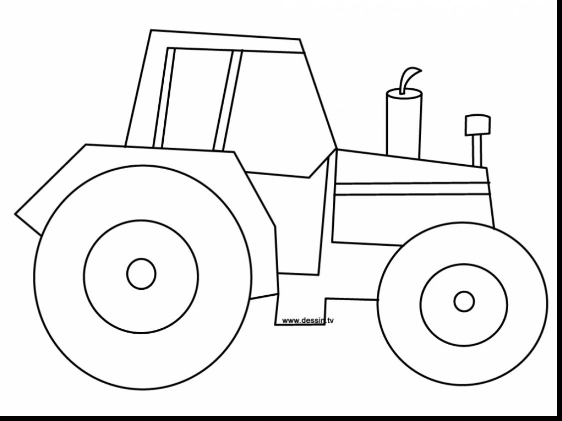 simple tractor drawing at getdrawings com