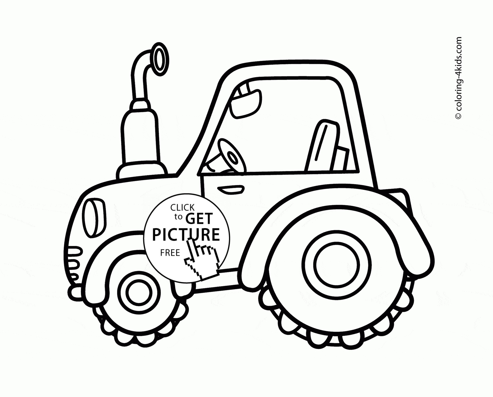 2080x1678 Simple Tractor Coloring Pages Copy Cute Tractor Coloring Page