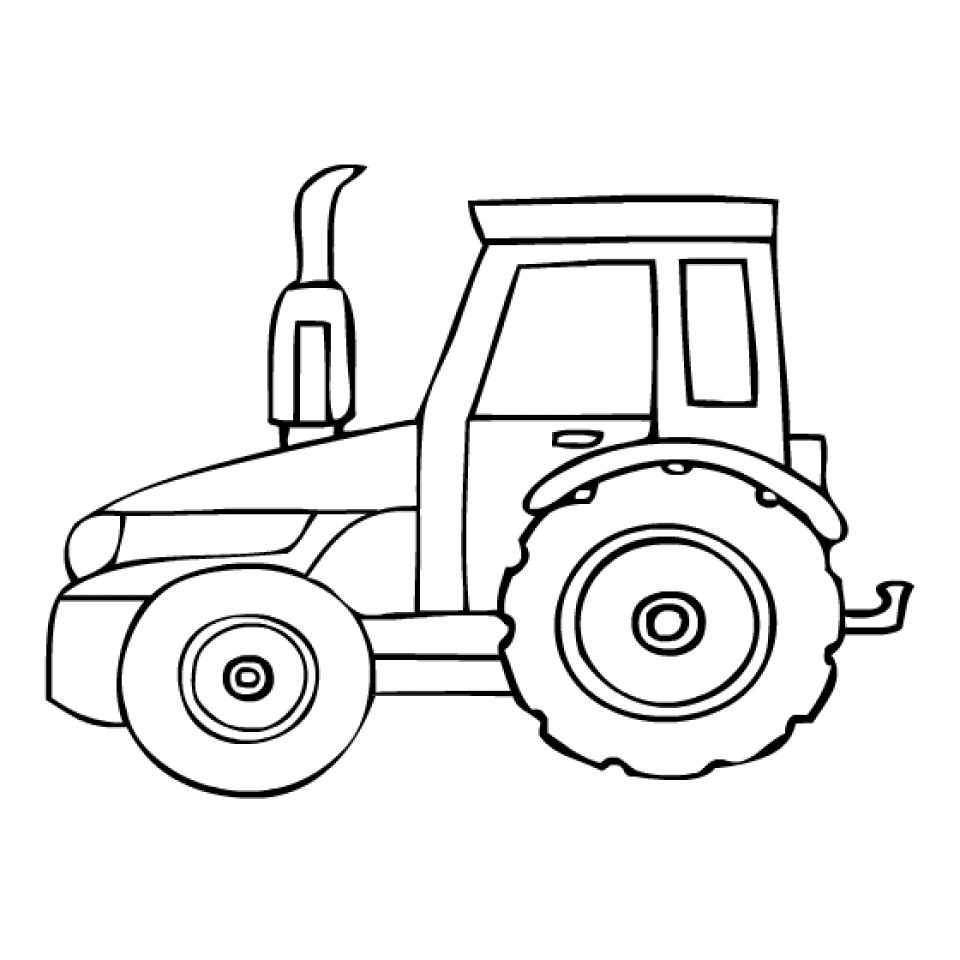 960x960 Simple Tractor Coloring Pages New Tractor Coloring Pages To Print