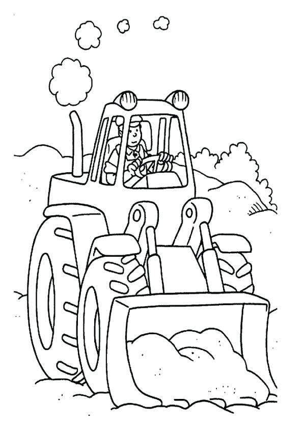 595x842 Tractor Coloring Pages Printable Farmer Working With Tractor