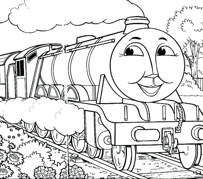 678x600 Train Engine Coloring Page Little Engine That Could Coloring Pages