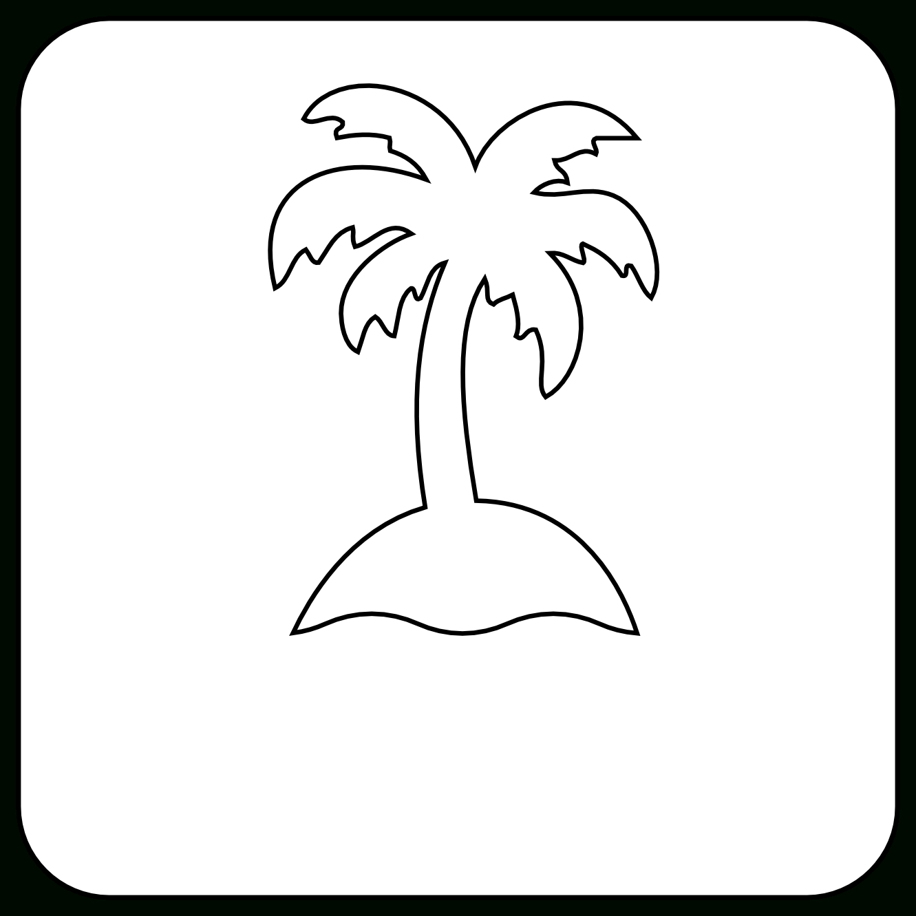 1331x1331 Simple Drawing Of A Palm Tree Simple Black And White Tree Drawing