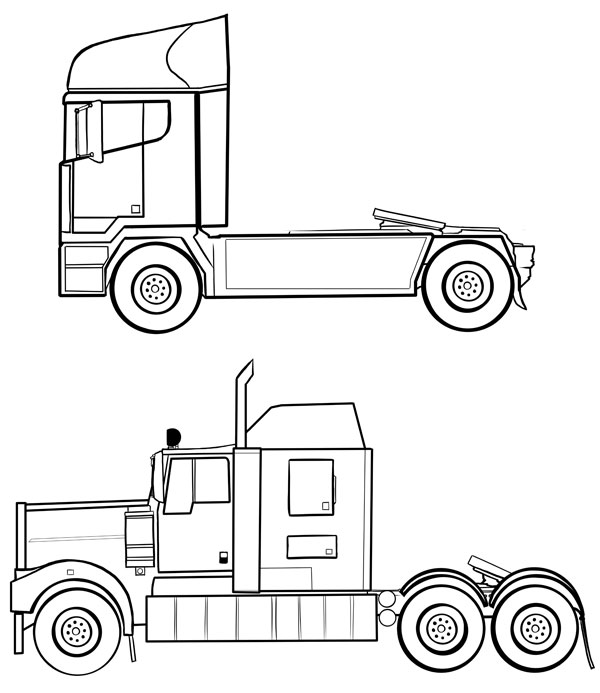 600x693 How To Draw Vehicles Trucks Amp Hgvs