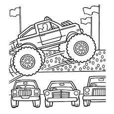 230x230 Monster Truck Coloring Page