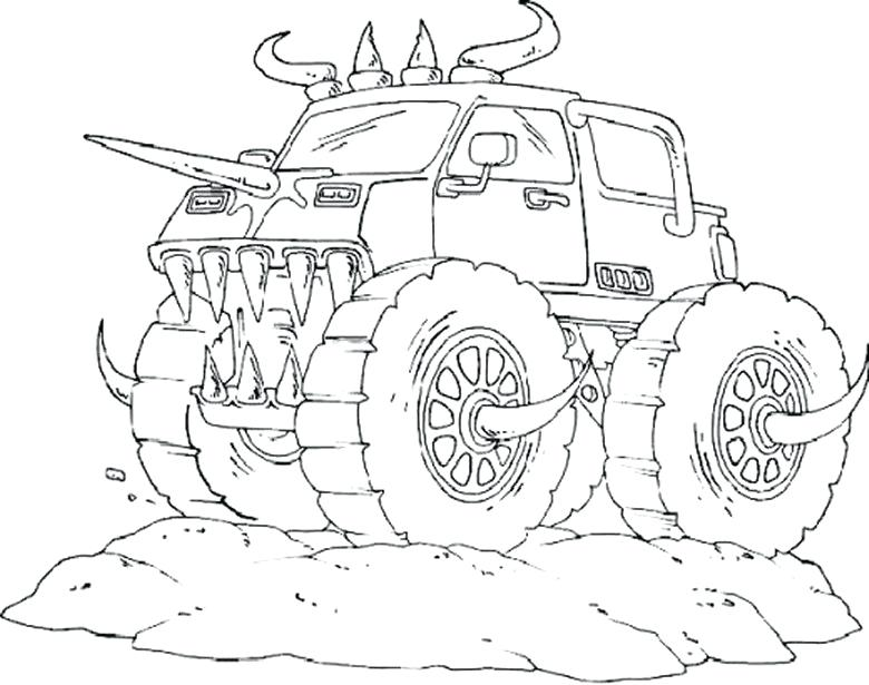 780x615 Batman Monster Truck Coloring Pages Simple Monster Truck Coloring