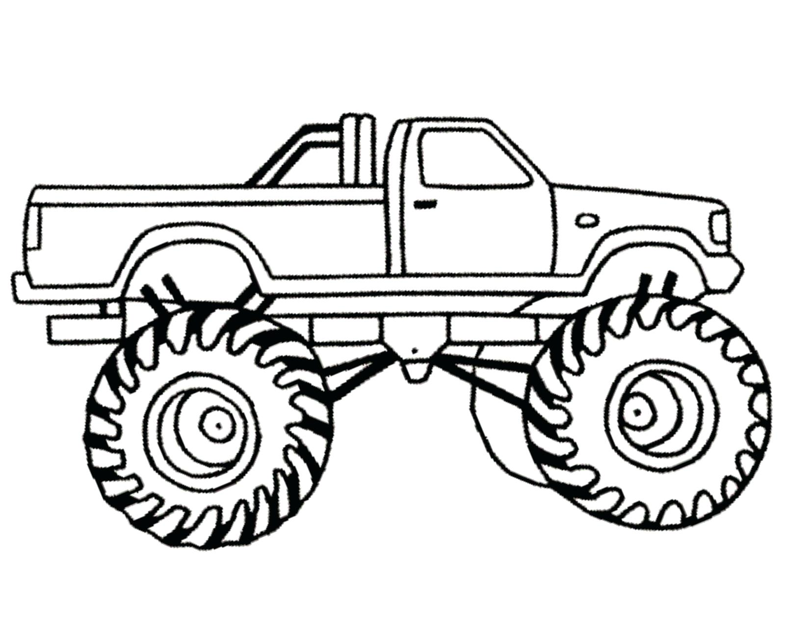 1600x1280 Coloring Coloring Pages Of Monster Trucks Simple Truck 2 Free