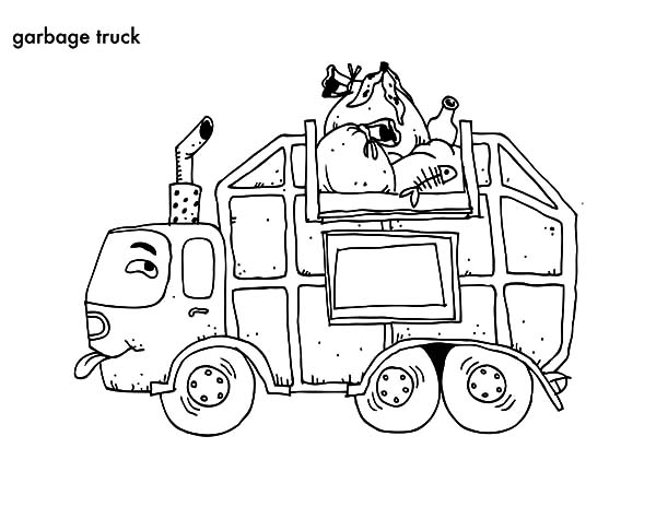 600x464 Cartoon Dump Truck Coloring Page Dump Truck Template Printable