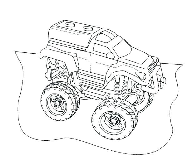 618x529 Digger Coloring Pages Monster Truck Grave Digger Coloring Page