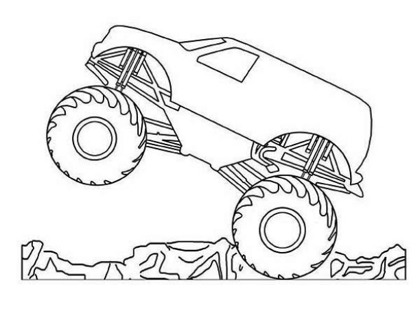 612x473 Drawing Monster Truck Coloring Pages With Kids