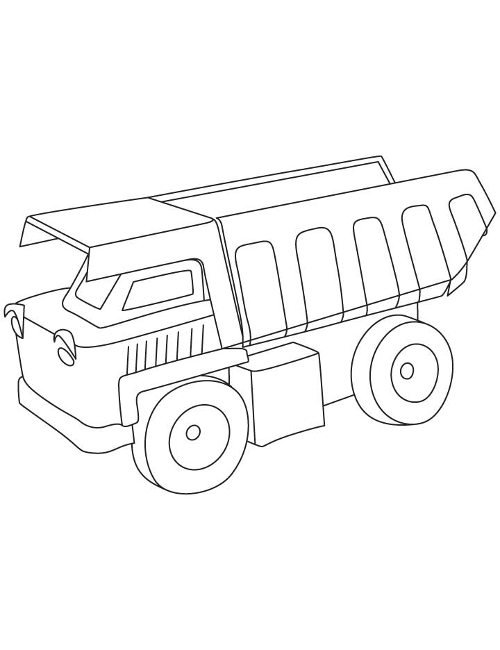 720x936 Dump Truck Coloring Pages
