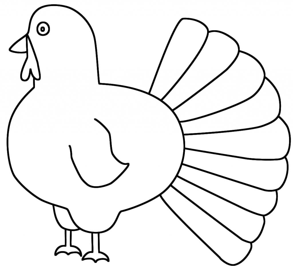 1024x938 Simple Turkey Drawing Simple Turkey Drawing