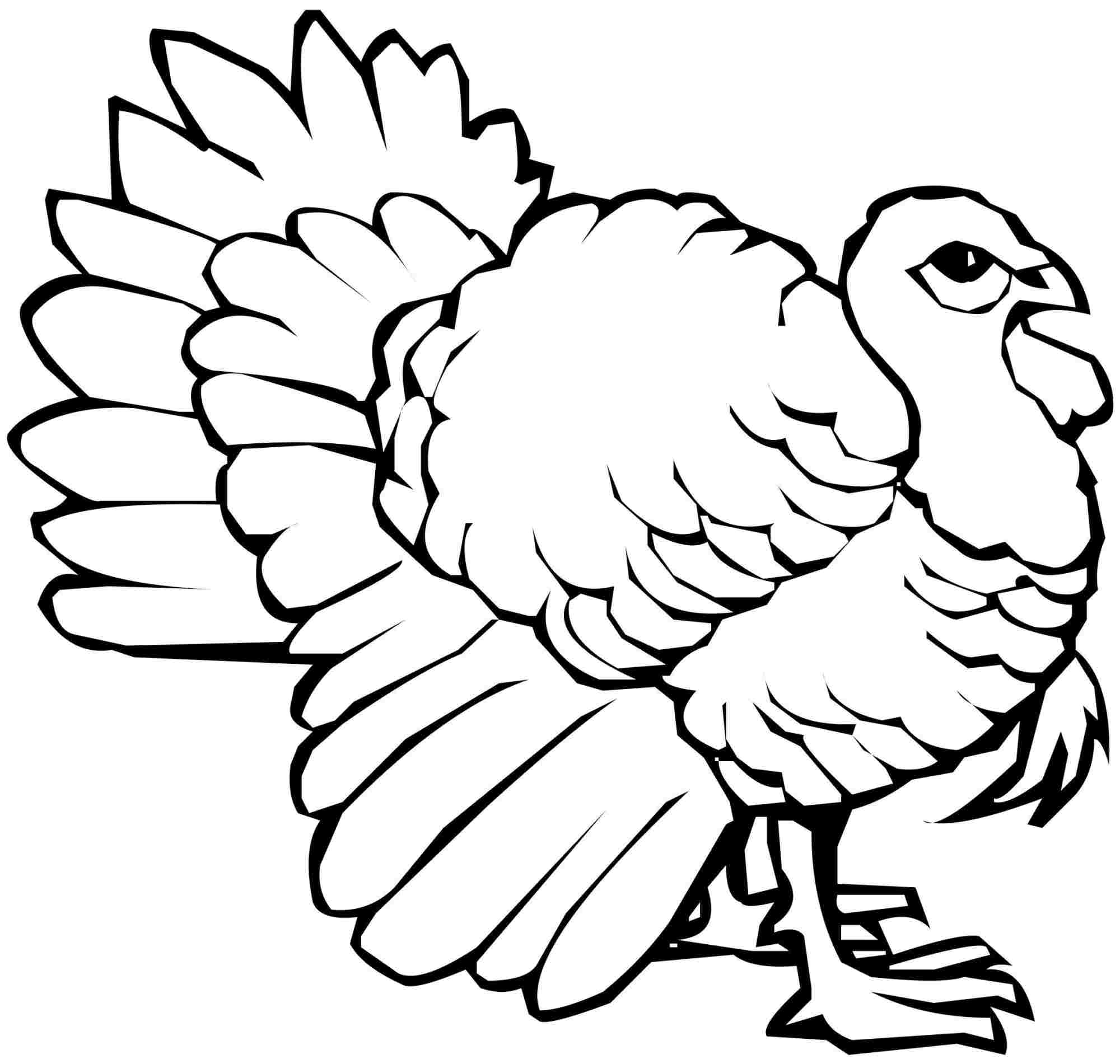 2000x1901 Thanksgiving Turkey Colouring Pages For Girls Boys Color