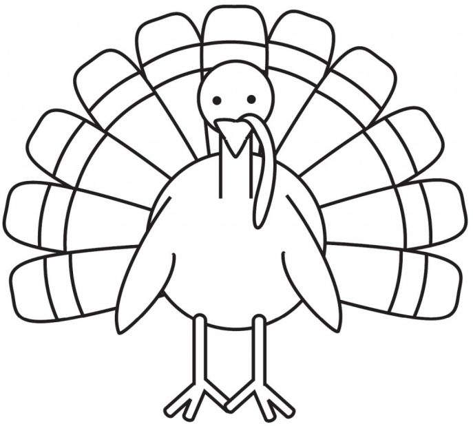 687x619 Coloring Pages Surprising Turkey Drawing Birthday