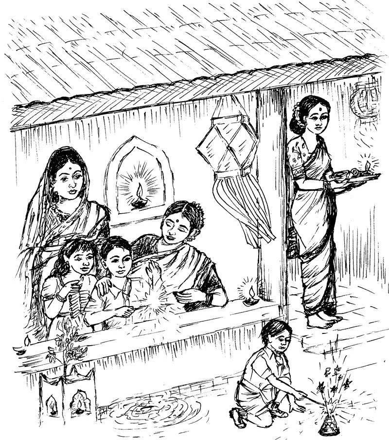 Simple Village Drawing At Getdrawings Com