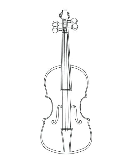 400x517 String Family Coloring Page Fiddle Violin String Family Coloring