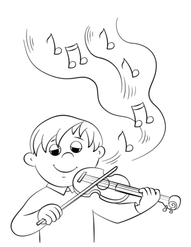 371x480 Cute Boy Playing Violin Coloring Page Free Printable Coloring Pages