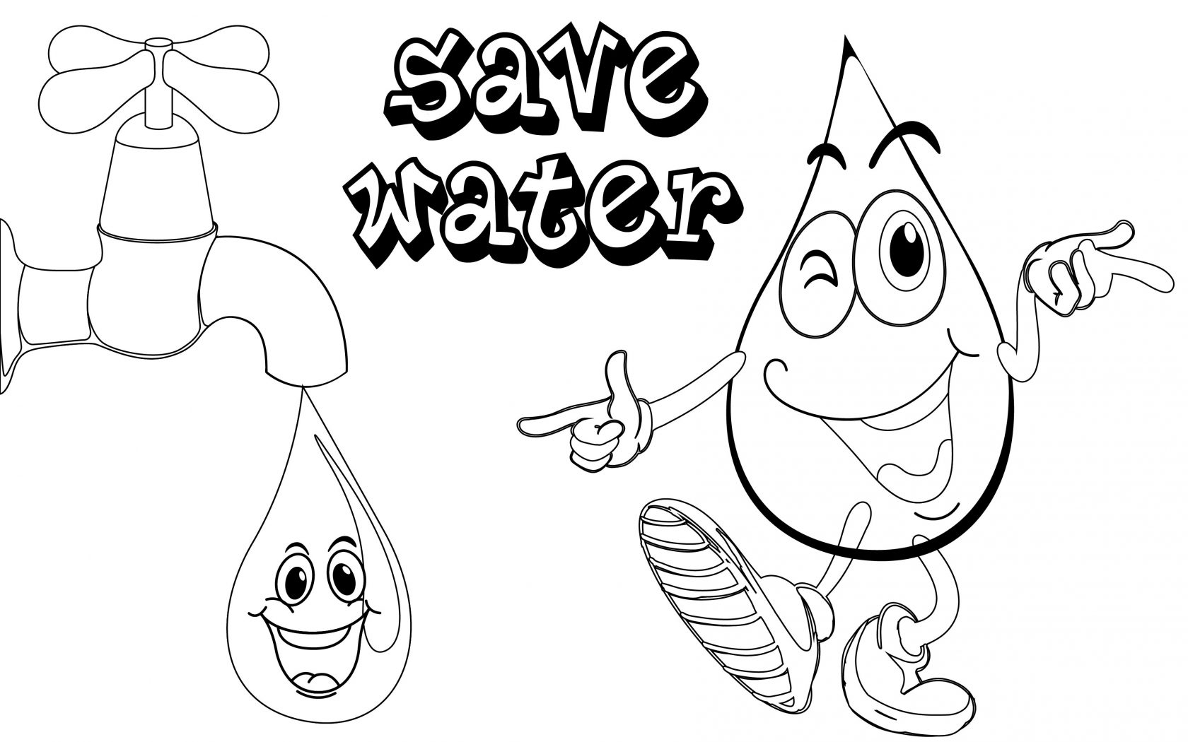1680x1050 Water Coloring Pages In The Sea Free Of For Kids Drops Waterfalls