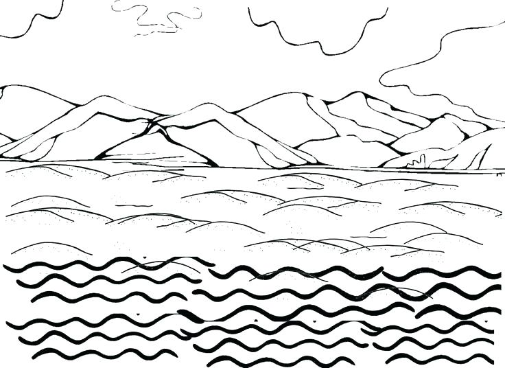 736x536 Water Cycle Coloring Pages Water Coloring Pages In Addition