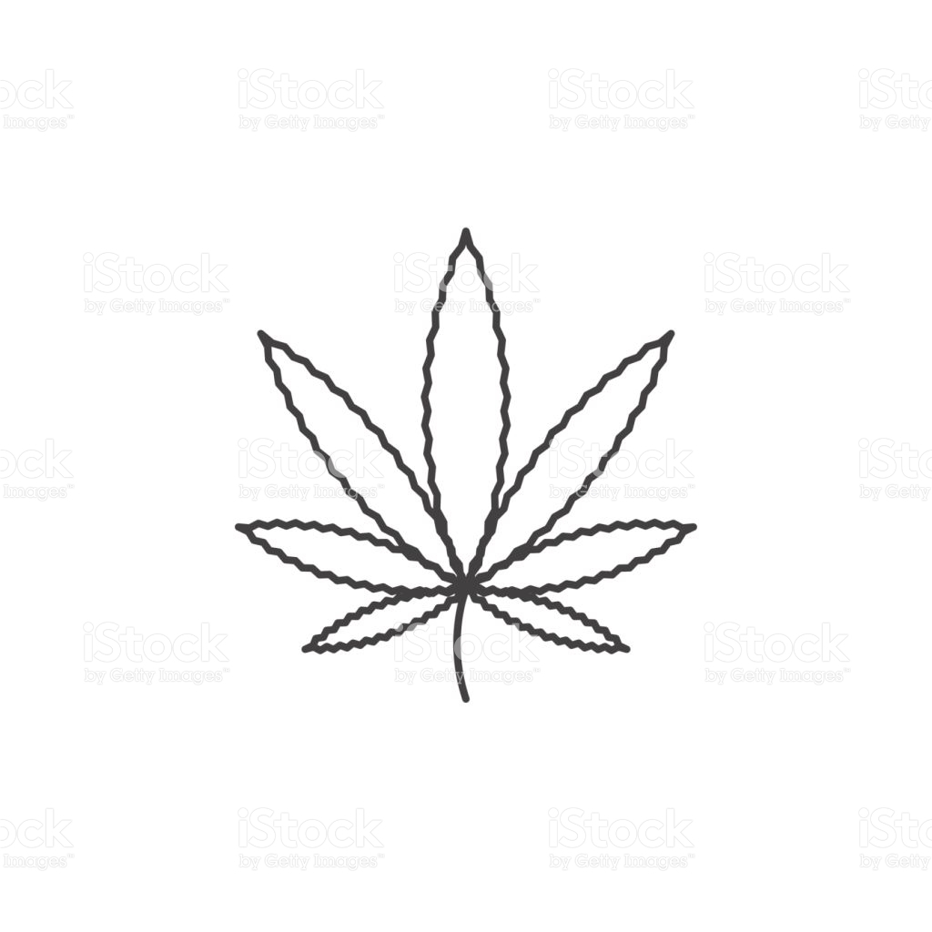 Simple Weed Leaf Drawing at GetDrawings.com | Free for personal use ...