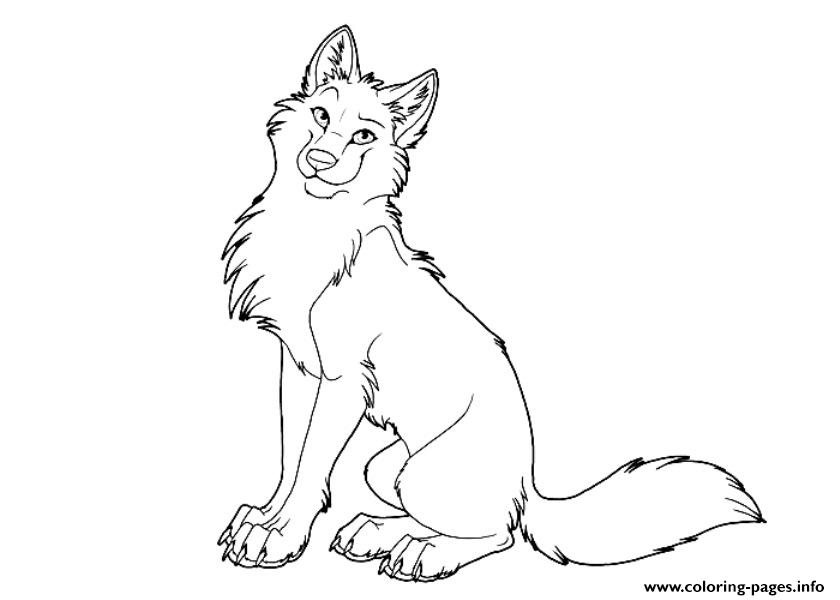840x600 Wolf Coloring Pages Free Printable