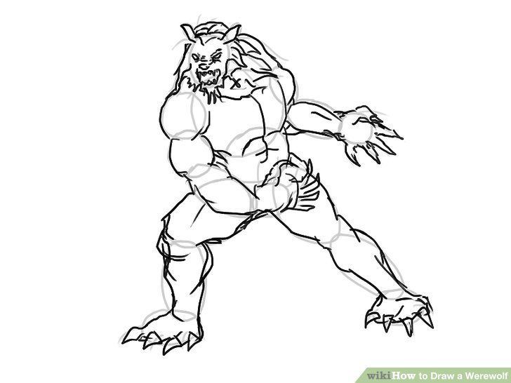 728x546 4 Ways To Draw A Werewolf